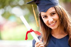 Woman at graduation Royalty Free Stock Photos