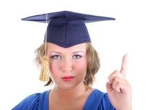 Woman in graduation cap Royalty Free Stock Image