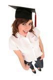 Woman in graduation cap Royalty Free Stock Images
