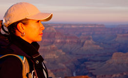 Woman at the Grand Canyon Royalty Free Stock Images
