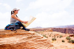 Woman at the Grand Canyon Stock Photography