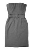 Woman gray dress Stock Images