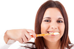 Woman with great teeth Royalty Free Stock Images