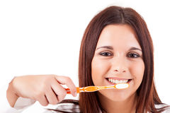 Woman with great teeth Stock Image