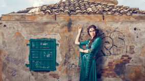 Woman in Greece Royalty Free Stock Photo