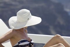 Woman in greece Stock Images