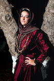 Woman with Greek traditional wear Royalty Free Stock Image