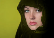 Woman In green Stock Photography