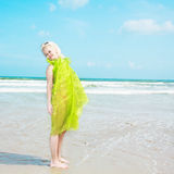 Woman in green Royalty Free Stock Photography