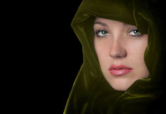 Woman In green Royalty Free Stock Photo