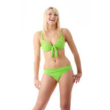 Woman in green bikini Stock Photography