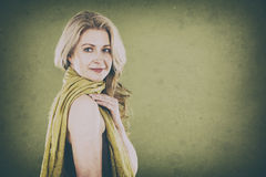 Woman on green Royalty Free Stock Image