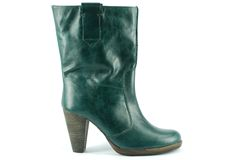 Woman green boot Royalty Free Stock Image