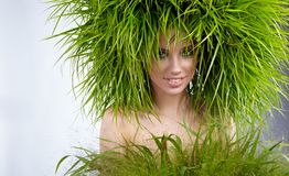 Woman, green concept Royalty Free Stock Photography