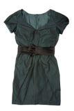Woman green dress Stock Photos