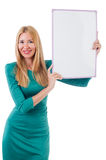 Woman in green dress Royalty Free Stock Image