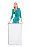 Woman in green dress Royalty Free Stock Images