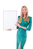 Woman in green dress Royalty Free Stock Photos