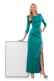 Woman in green dress Stock Photo