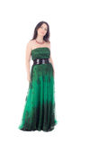 Woman in a green dress Royalty Free Stock Photos
