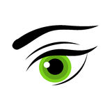 Woman green eye Stock Images