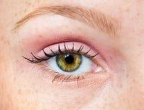 Woman green eye Royalty Free Stock Photos