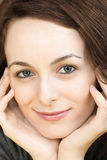 Woman with green eyes Stock Photography