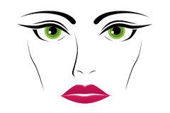 Woman green eyes Royalty Free Stock Photo