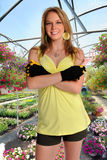 Woman in Greenhouse Stock Photography
