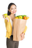 Woman Grocery shopping Stock Image