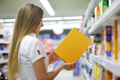 Woman in a Grocery Store Royalty Free Stock Photo