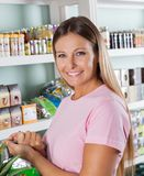 Woman In Grocery Store Stock Photography