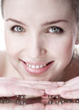 Woman with groomed clean skin. Royalty Free Stock Image