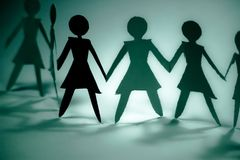 Woman group blue  Stock Image