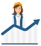 Woman with growing chart Stock Photo