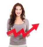 Woman growth arrow Stock Photography