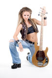 Woman with a guitar Royalty Free Stock Photography