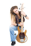 Woman with a guitar Royalty Free Stock Images