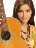 Woman guitar. Stock Image