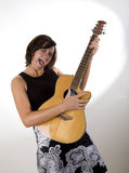Woman with Guitar 6 Royalty Free Stock Photography