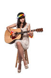 Woman with Guitar Stock Photos