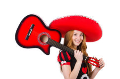 Woman guitar player Stock Photography