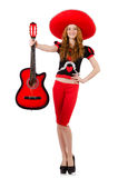 Woman guitar player Royalty Free Stock Photography