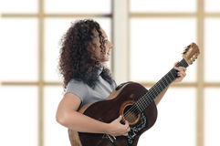 Woman Guitarist Stock Photography