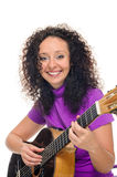 Woman guitarist and singer Royalty Free Stock Images