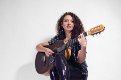 Woman guitarist and singer Royalty Free Stock Photo
