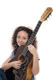 Woman guitarist Royalty Free Stock Photo
