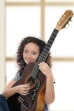 Woman guitarist Stock Photo