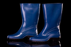 Woman gumboots. Stock Photos