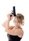 Woman with gun Stock Photos